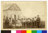 Ojibwe Indian school and children, Grand Portage, Minnesota