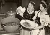 Preparing veal paprika