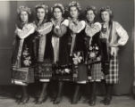 Group of dancers in folk costumes