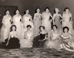 Women in evening gowns