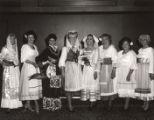 Women in Italian folk costumes