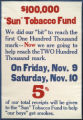 "$100,000 ""Sun"" Tobacco Fund : we did our ""bit"" to reach the first one hundred..."