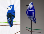 Blue Jay, Kids Design Glass sculpture, Pine City Public Library, Pine City, Minnesota