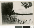 Swimming at Lake Koronis Assembly Grounds, Paynesville, Minnesota