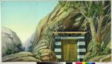 Image for Hiram Abiff's tomb set into rugged hillside.