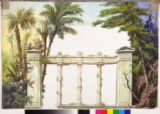 Image for Peristyle cut drop with palms.