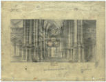 Image for Pencil sketch depicting a cathedral interior.