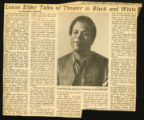 "Image for ""Lonnie Elder Talks of Theater in Black and White"". The New York Times, February 8, 1969."