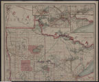 Image for Railroad commissioners' map of Minnesota : corrected to May 1, 1908