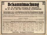 Image for Bekanntmachung betr. die Auslegung der Stimmlisten fur die am 31. Juli 1932 stattfindende Reichstagswahl. , Berlin,