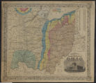 Image for Geological railroad & township map of the state of Ohio
