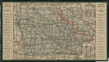 Image for Miller Hotel Company auto trails map of Iowa