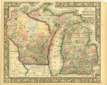 Image for County map of Michigan and Wisconsin