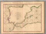 Image for A chart of the coasts of Spain and Portugal, with the Balearic Islands, and part of the coast of Barbary