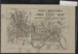 Image for Twin City map : St. Paul - Minneapolis, Minnesota
