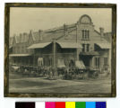 """Image for Market House building, corner of Hennepin Avenue and 1st Street North, also known as """"Gale's Corners,"""" second floor rented by the Minneapolis YMCA for 10 years beginning in 1877"""