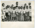 Image for Harlem day camp group with Roy Campanella and Jackie Robinson