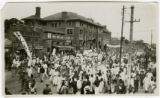 Image for Shanghai Incident: Passing the YMCA building, a parade in Peking after the May 30th Shanghai shooting