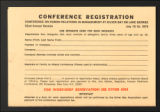 Image for Conferences. Silver Bay Human Relations in Industry Conference. Conference Materials, 1957-1978. (Box 6, Folder 16)