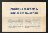 Image for 1945-1958. BIE Publications, Promising Practices in Intergroup Education, 1947. (Box 2, Folder 2)