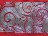 Image for Silk wall hanging with silver embroidery